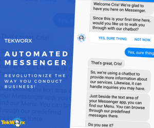 TekWorx Messenger Chatbot Automation