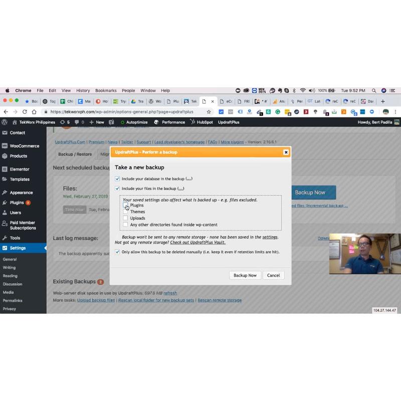 WordPress Maintenance and Backup Recovery
