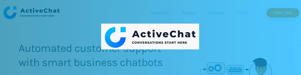 ActiveChat, chatbot builder for Shopify and WooCommerce platforms.