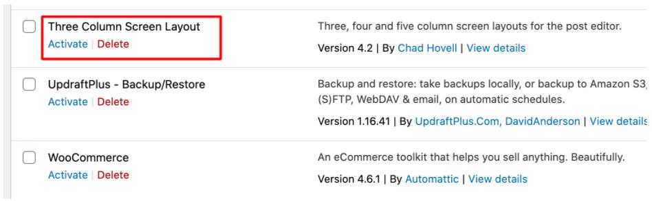 Three Column Screen Layout Plugin Backdoor Virus