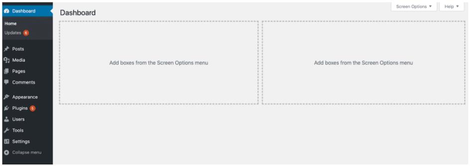 WordPress Dashboard Empty After Hacked